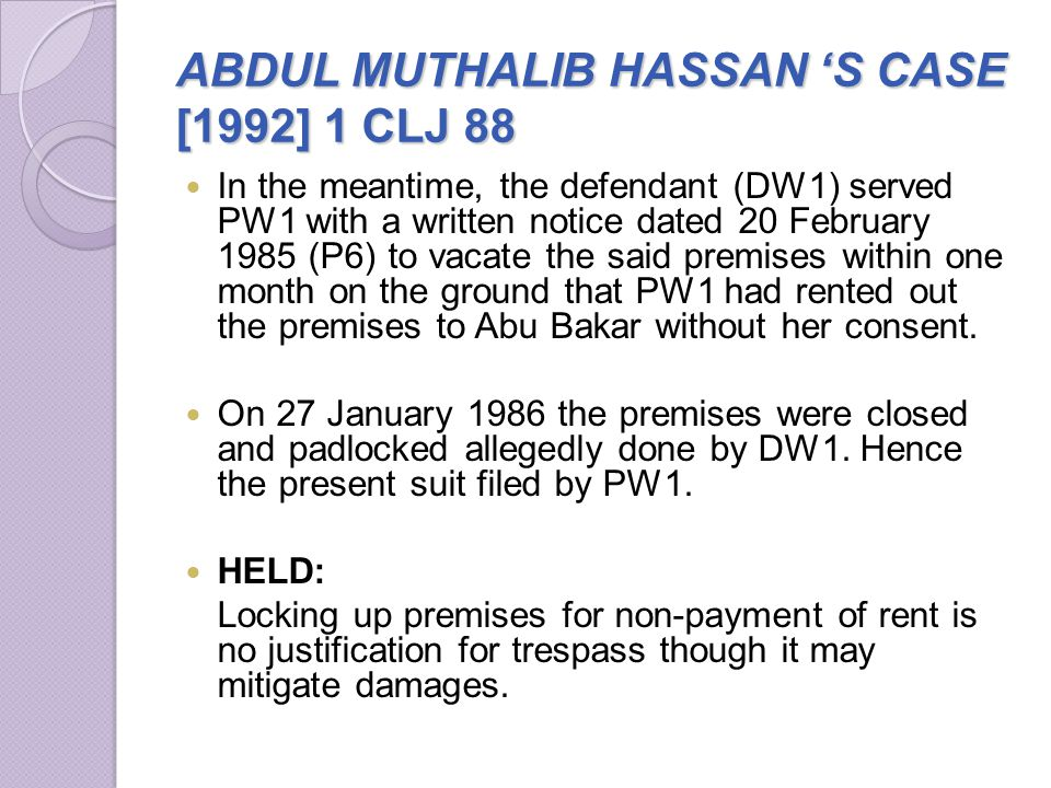 ABDUL MUTHALIB HASSAN 'S CASE [1992] 1 CLJ 88